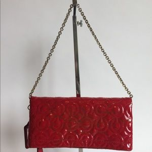 Coach Red Patent Leather Small Handbag